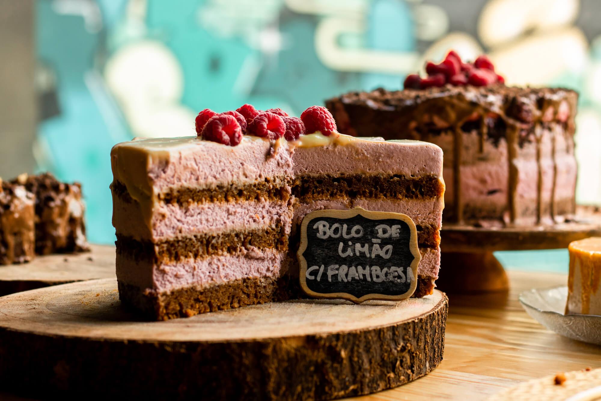 Vegan cakes at O Botanista